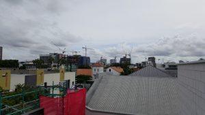 Newstead skyline brisbane, brisbane skyline, brisbabe tower cranes