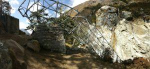 Khumjung bridge, khumjung bridge collapse