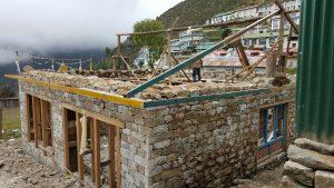 Namche bazar nepal, namche bazar new house, namche bazar new roof