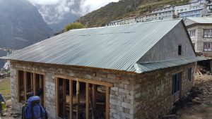Namche bazar nepal, namche bazar new house, namche bazar new roof installed