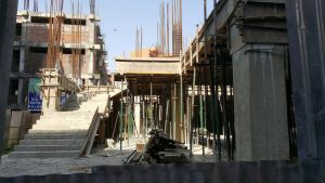 Concrete stair construction, kathmandu construction, nepal construction