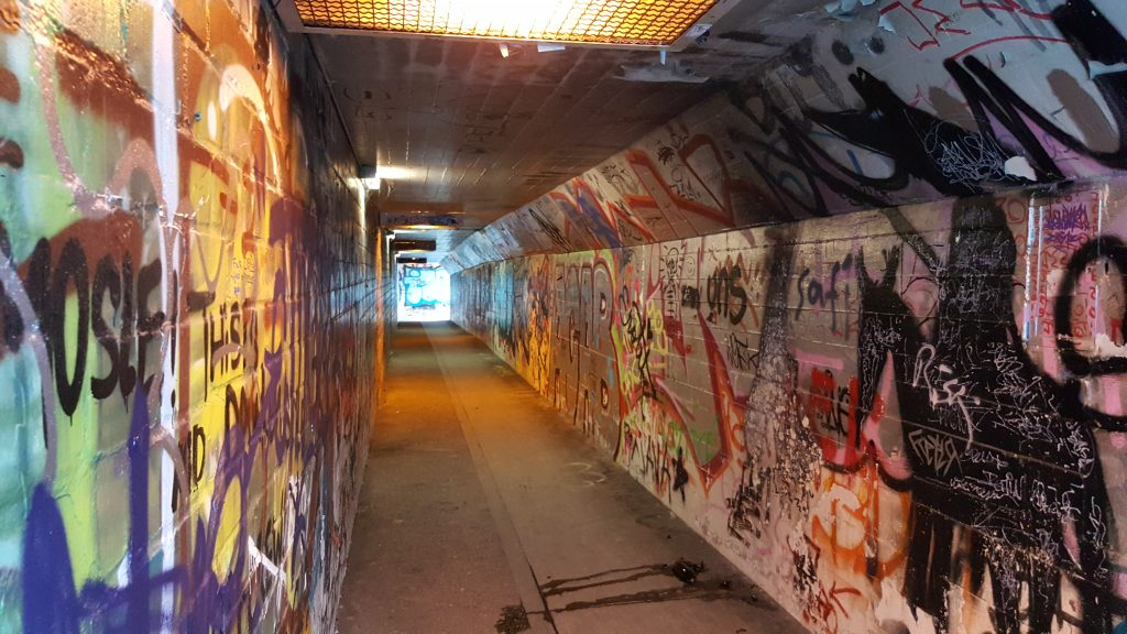 Underground walkway, tunnel, Bonn Germany