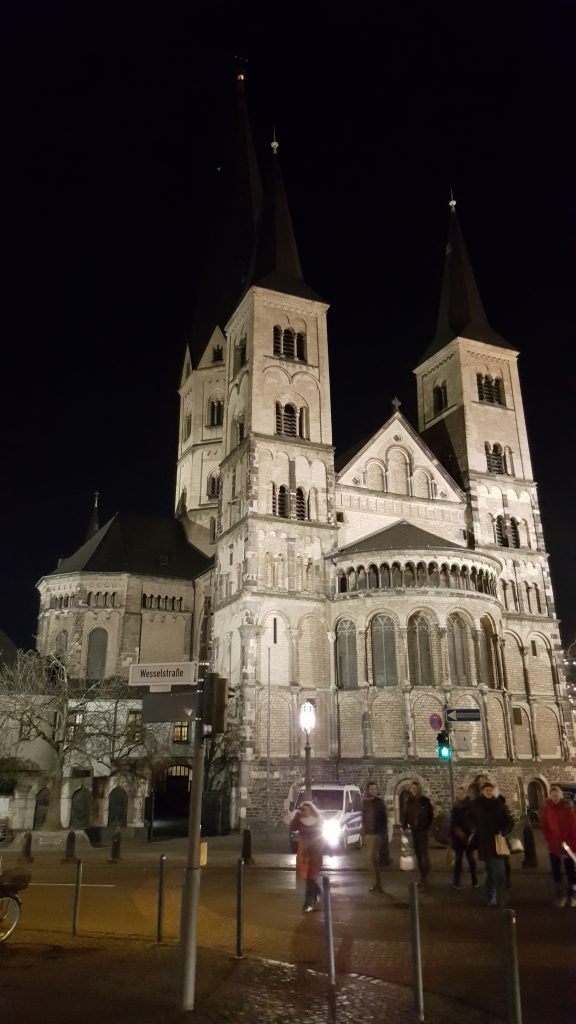 Bonn Cathedral at night, Bonn Cathedral