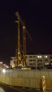 Construction at night, Bonn Germany