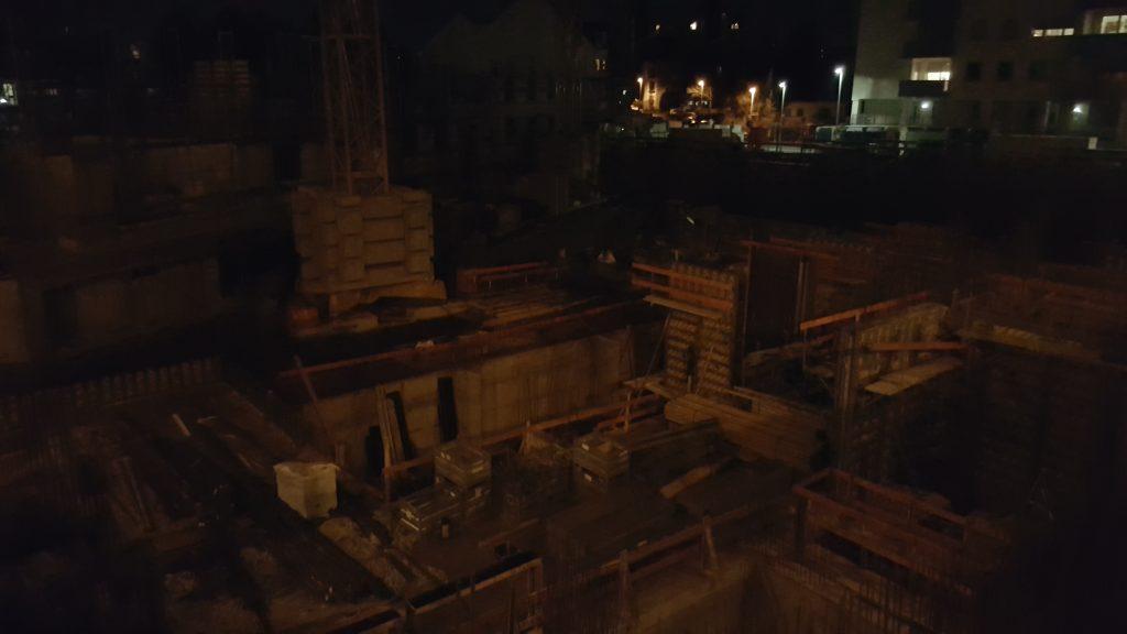 Basement construction, commercial building, Bonn Germany