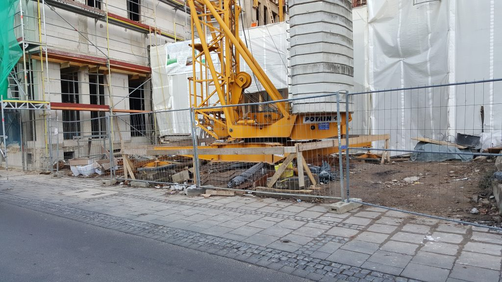 Tower crane base, Bonn germany