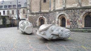 Twin heads, Sculptured heads, Bonn Germany