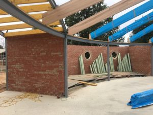 Shepparton Victoria Australia builder, nicholson builders, heath nicholson builders, curved steel beams, house construction