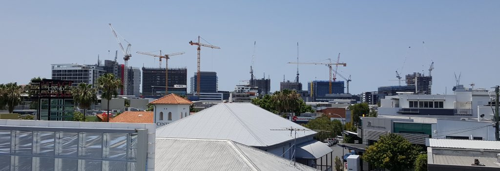 Tower cranes, Newstead, Brisbane, Hutchinson Builders