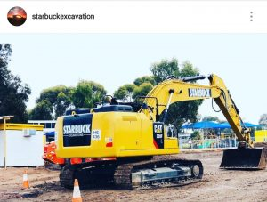 Cat Excavator, Starbuck excavations