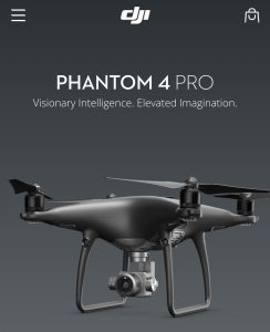 DJI Phantom 4 black drones