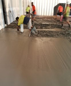 Placing concrete