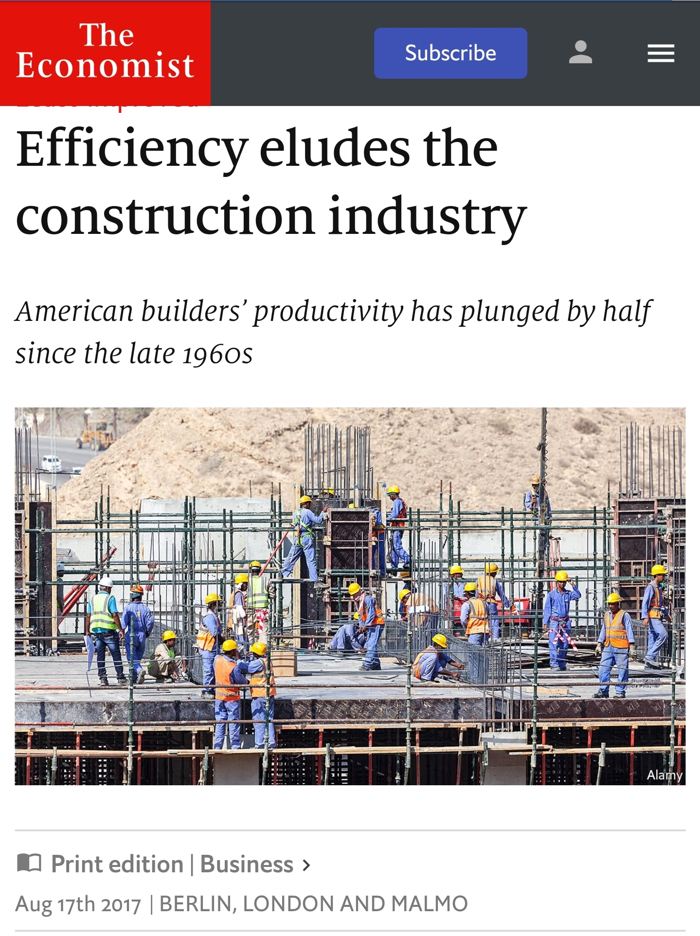 The Economist efficiency article