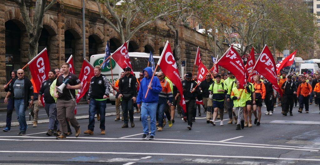 CFMEU march in Sydney