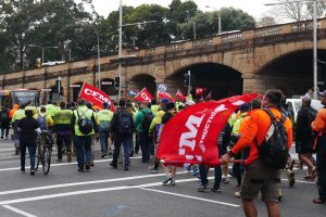 CFMEU march in Sydney streets