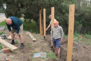 All About Brush team building a brush fencing