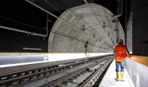 Carillion and photo of new rail way tunnel