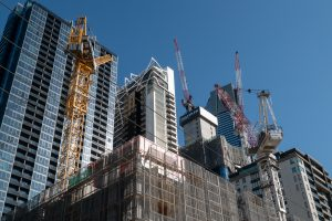 tower crane, construction, highrise construction