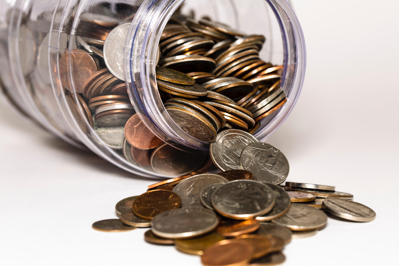 money, coins, money jar, being owed money in construction